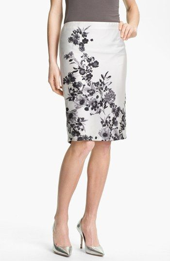 Vince Camuto 'Graphic Garden' Pencil Skirt available at #Nordstrom
