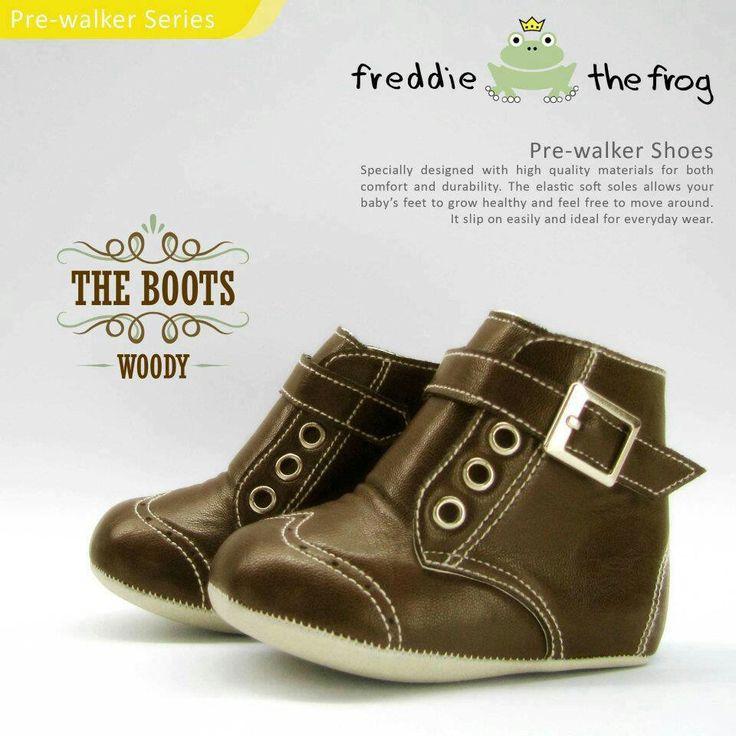 #Sepatu freddie the frog (Woody boots) ~ 90ribu. Ukuran Sol : No. 3 = 11 cm (untuk umur sekitar 0-6 bulan-) No. 4 = 11.5 cm (Sekitar 6-9bulan-) No. 5 = 12 cm (Sekitar 9bln-1 tahun-)