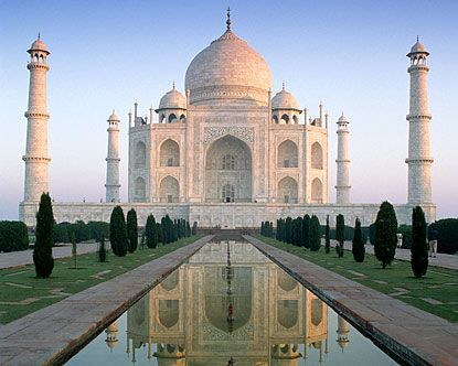 Taj Mahall.  In my opinion one of the most beautiful buildings