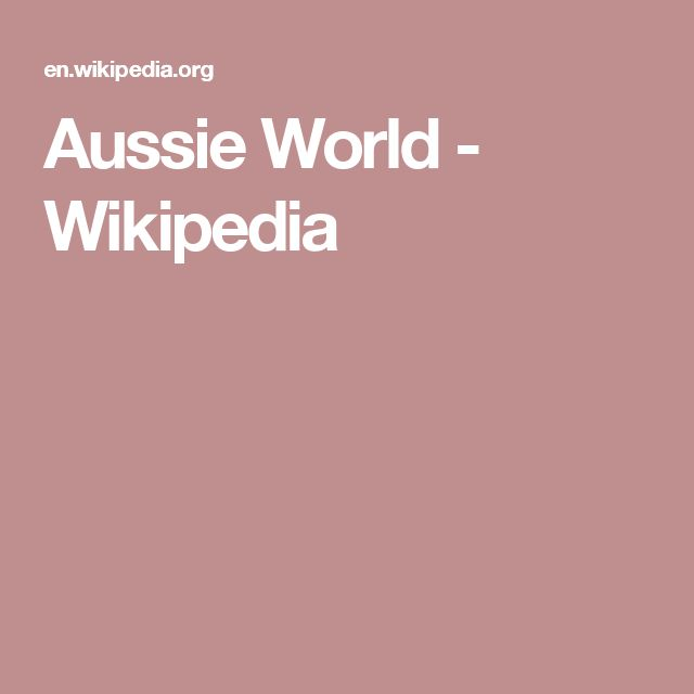 Aussie World - Wikipedia