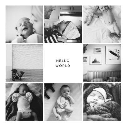 Cover idea. Baby. Family album