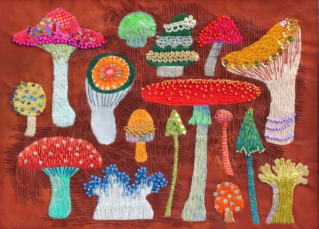 the blog of Kimika Hara, who does the most extraordinarily fun embroidery