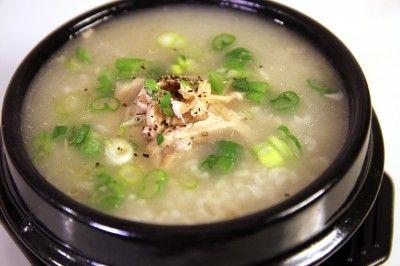 Chicken and rice porridge (Korean - dakjuk)   Healthy comfort food