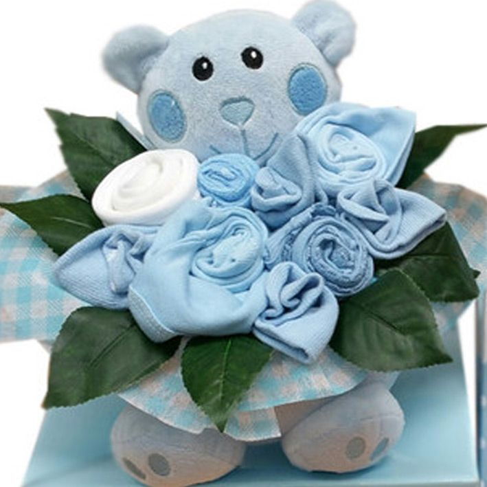 55 best baby gifts and hampers images on pinterest baby hamper beary boys cute bouquet baby bouquet newborn baby gifts personalized negle Images