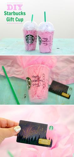 Starbucks lover on your gift list this Valentine's Day? Upcycle or buy a clean cup and make your own DIY Starbucks Gift Card Holder for the cutest presentation!
