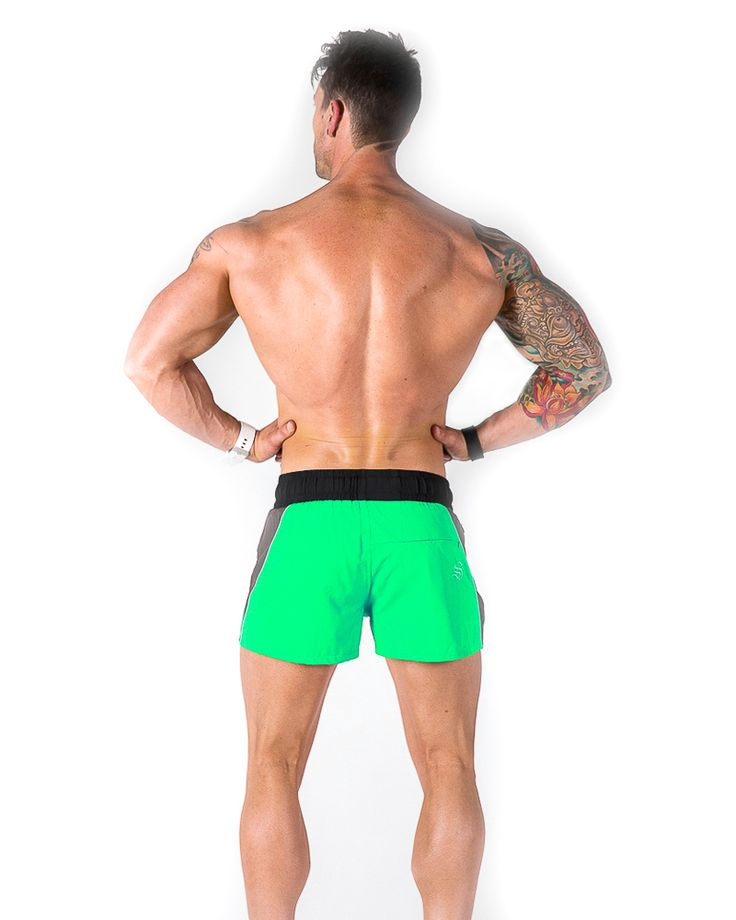 Lift Shorts - Green 2 - Strong Liftwear