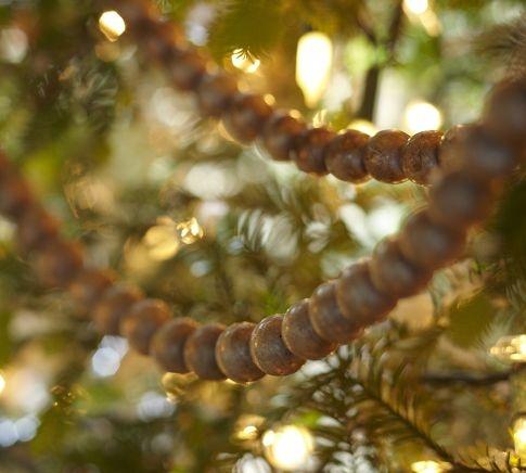 Natural Wood Bead Garland Christmas Amp Winter