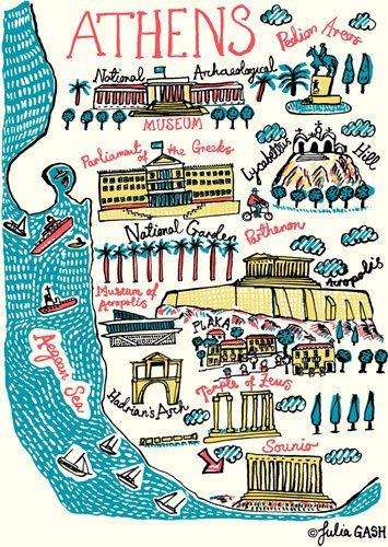 Athens Cityscape by Julia Gash