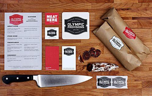 Unique Branding Design, Olympic Provisions via @guivieira #Branding #Design