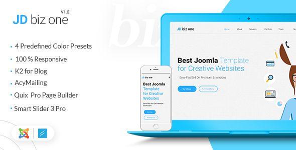 Jd Bizone Creative Multipurpose One Page Joomla Template