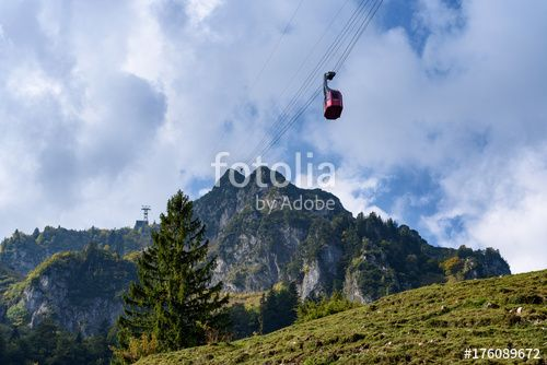 "Download the royalty-free photo ""cable car in Mont Hochfelln, Bavarian Alps, Germany"" created by stillforstyle at the lowest price on Fotolia.com. Browse our cheap image bank online to find the perfect stock photo for your marketing projects!"