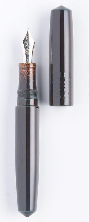 NAKAYA piccolo palmet,hekitame,yakomakie.  My first custom NAKAYA fountain pen