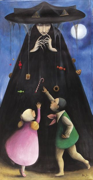Hansel and Gretel (illustrator,  Ana Juan)- This version of the witch is more sinister than ever-