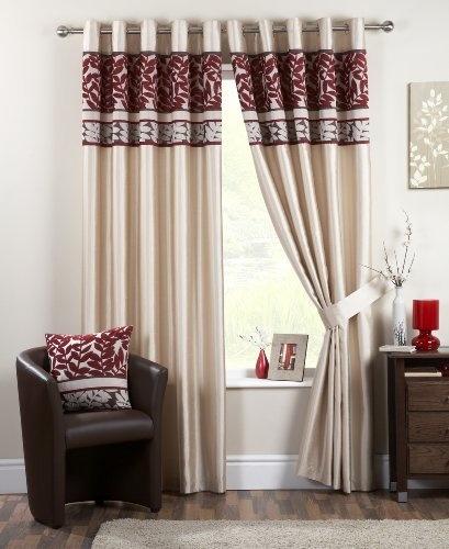 Dreams N DrapesConiston 66 X 72 Cm Eyelet Curtains Red By Jrosenthal
