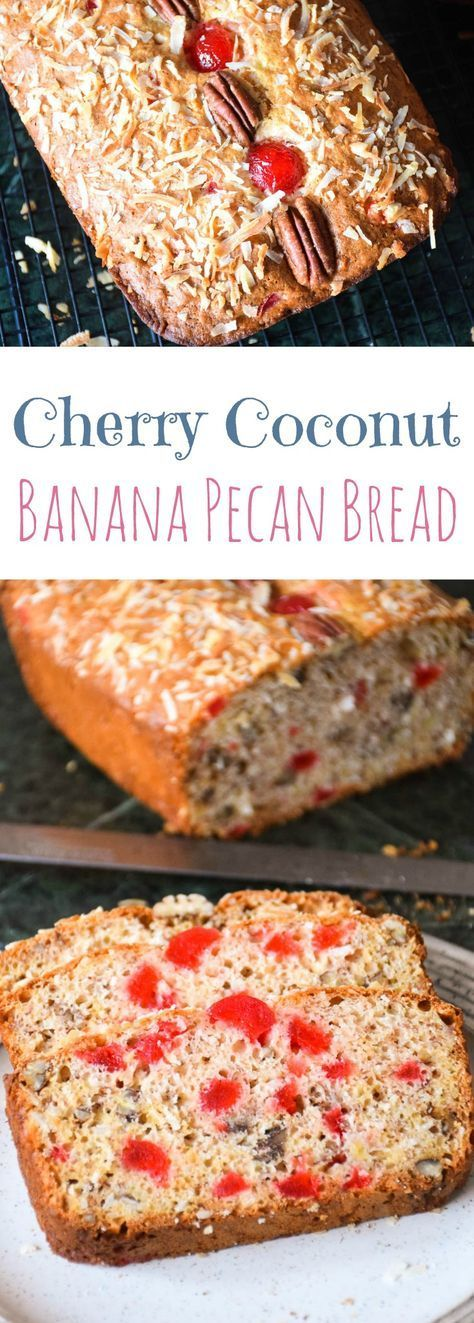 Full of banana, coconut, cherry and pecan flavor, this Cherry Coconut Banana Pecan Bread is a welcome change from the regular loaf of banana bread!