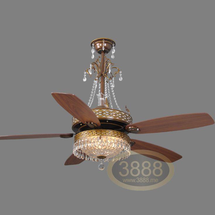 Crystal Ceiling Fan: Triple Ceiling Fan Lights 60 Measurement Luxury Classical