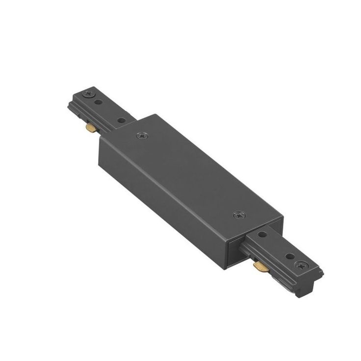 """WAC Lighting LI-PWR 7"""" Length Power I-Connector for L-Track Systems Black Indoor Lighting Track Lighting Accessories"""