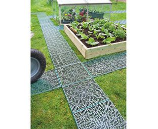 Expert Verdict 1 Pack Garden Path Tiles (5) Don't trample all over your plants when you're weeding, or walk a muddy path down to your shed or compost bin. These outdoor tiles are made of industrial-strength polyethylene and clip together in sec http://www.MightGet.com/january-2017-11/expert-verdict-1-pack-garden-path-tiles-5-.asp