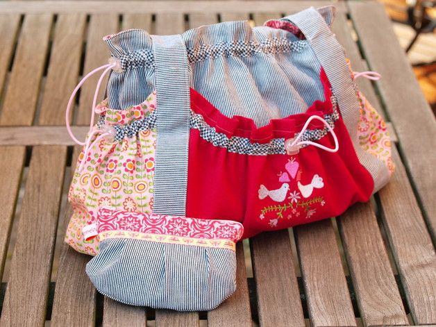 Schultertaschen - chez Paris - die Schultertasche Julie - ein Designerstück von Sanne-W bei DaWanda