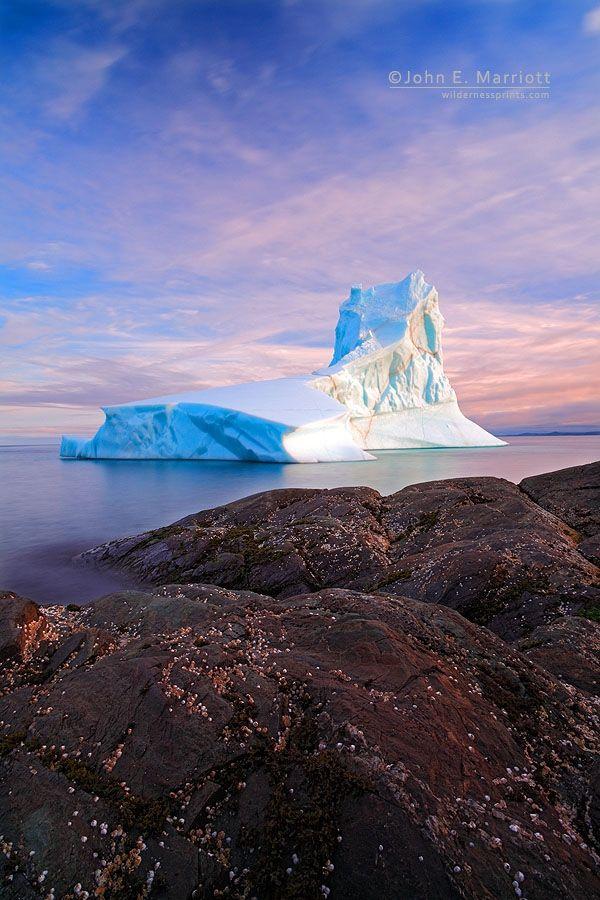 Iceberg off Goose Cove, Newfoundland, Canada ~ (c) John E. Marriott *