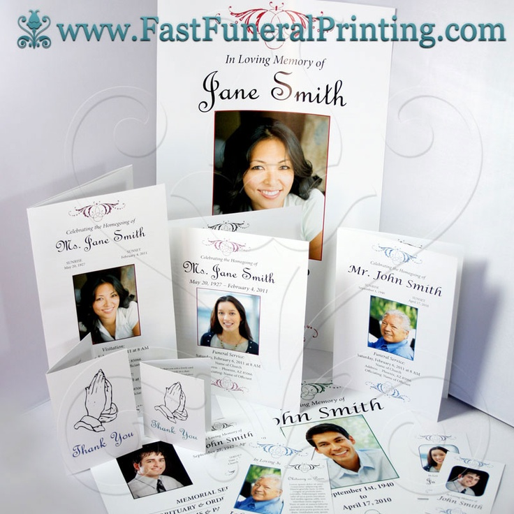 Design Your Own Theme - Fast Funeral Printing - Funeral Programs - 35 printable obituary