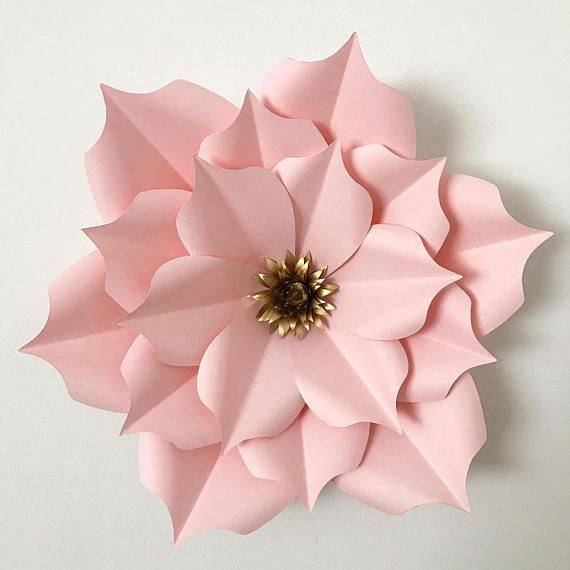 Pdf petal 5 paper flower template digital version for Paper cut out templates flowers