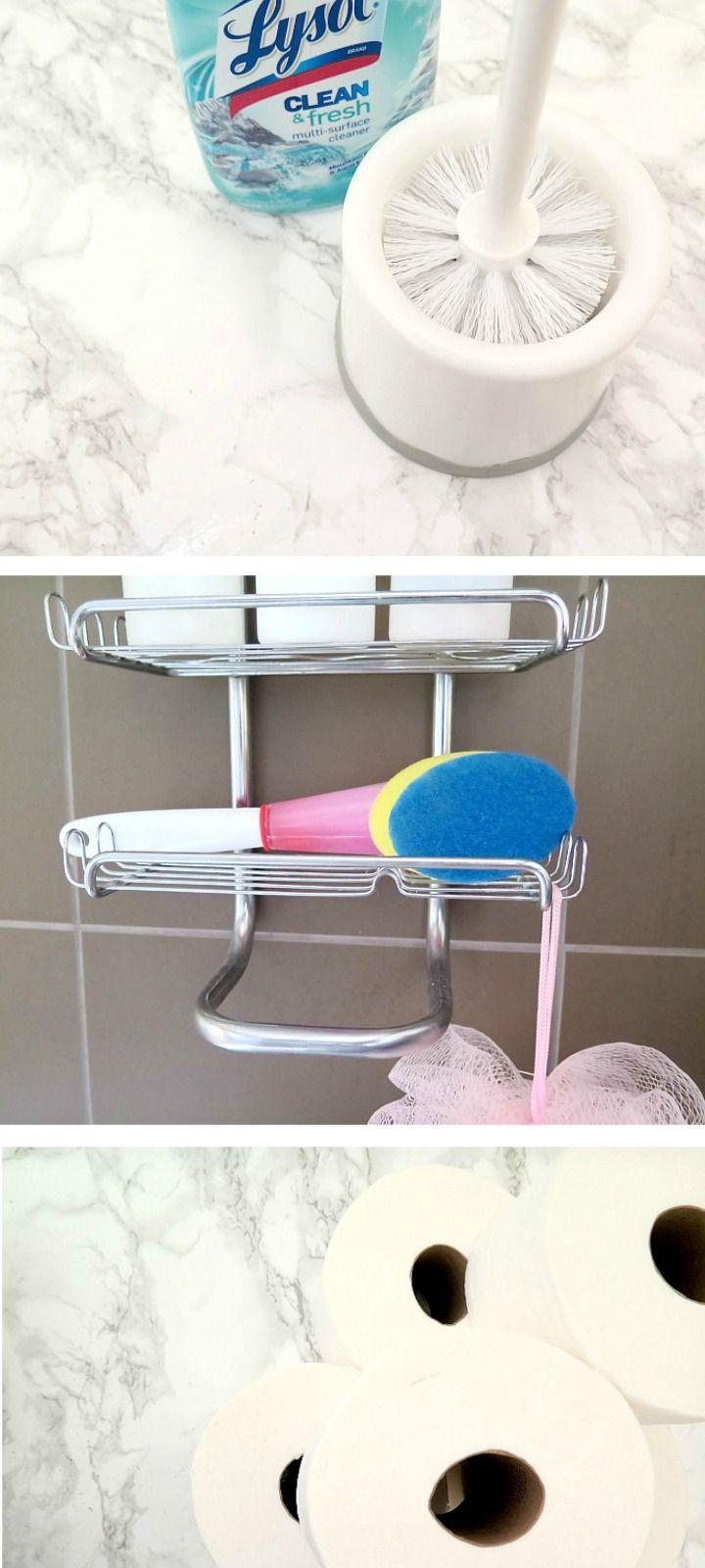 Easy BRILLIANT ideas for keeping your bathroom clean!