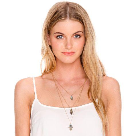 Karyn In La Harissa Hand Necklace from City Beach Australia