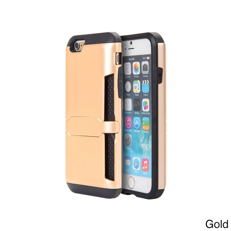 Apple Iphone 6 6S Hybrid Clip Card Case With Lock Stand
