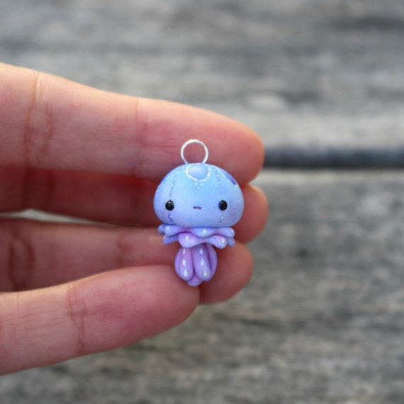 Little Jellyfish Charm by TheLittleMew on Etsy                                                                                                                                                                                 More