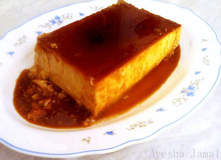 Tres Leches Flan  (2 cups regular milk) - America's Test Kitchen uses 1 cup reg milk, 2 eggs & 5 egg yolks