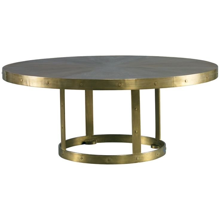 Lillian August Grant Cocktail Table In Brass