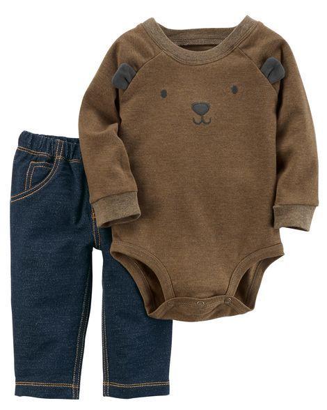 2-Piece Bodysuit Pant Set https://presentbaby.com