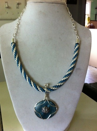 Kumihimo & Mother of Pearl Necklace | CreativeJewelryCreations - Jewelry on ArtFire