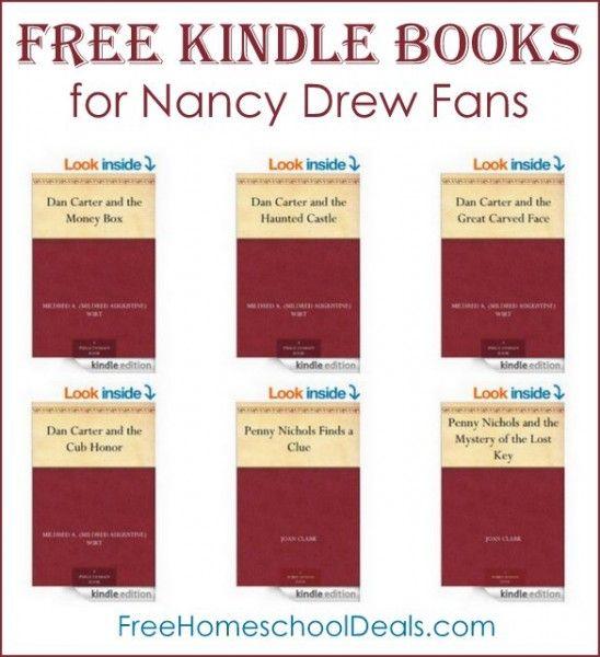 Free Kindle Books for Nancy Drew Fans - these were written by one of the authors of the Nancy Drew series!