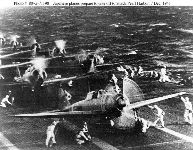 The Japanese aircraft is flying in the direction of Pearl Harbor to attack.