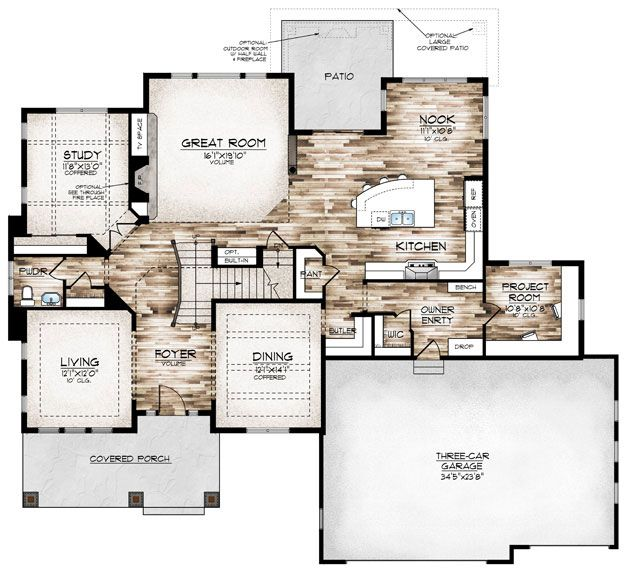 554 best images about house design on pinterest for Sewing room floor plans