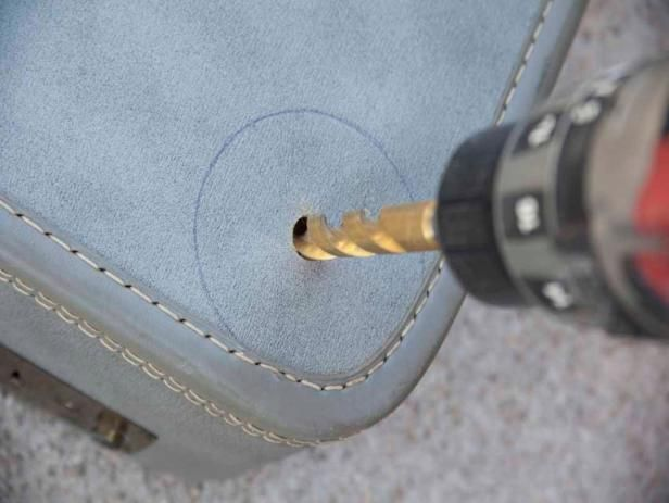 Drill Hole in Suitcase Bottom