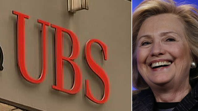 Donations to the Clinton Foundation by Swiss bank UBS increased tenfold after Hillary Clinton intervened to settle a dispute with the IRS early in her tenure as secretary of state, according to a published report.