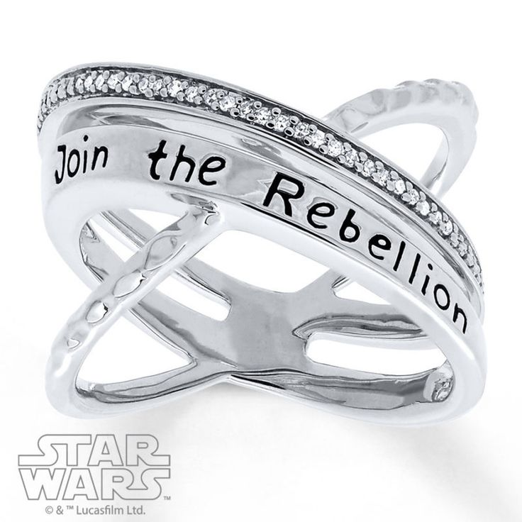 Kay Jewelers x Star Wars Sterling Silver Rebel criss-cross Diamond ring