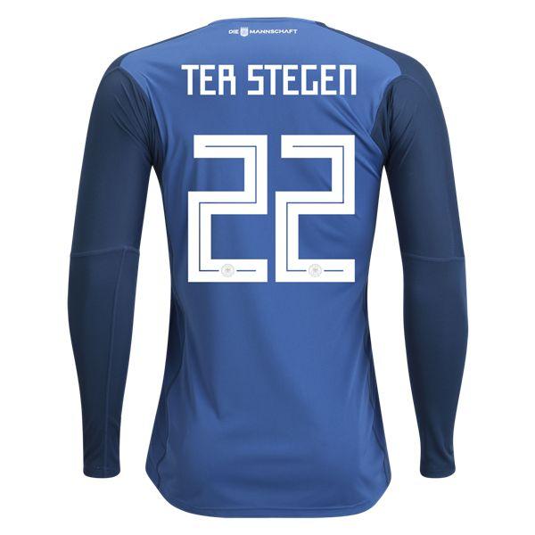 adidas Marc-Andre ter Stegen Germany Long Sleeve Goalkeeper Jersey 2018