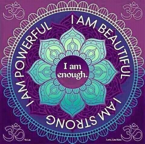 Just be who you are. Its ok to be yourself. You are enough. Have a great day.