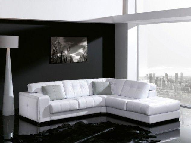 Modelo Hermes: rinconera con rincón cuadrado, tapizado en piel espesorada blanco, asientos y respaldos con capitoné, cabezales hidráulicos, asientos deslizantes y también con opción a motorizado   Muebles ESTEPA