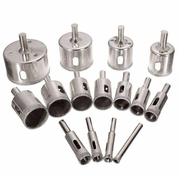 Diamond Hole Saw Drill Bit Set Dynobox Drill Bits Drill Bit Sets Glass Ceramic