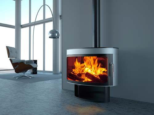 Great looking modern wood burning stove - and affordable too!