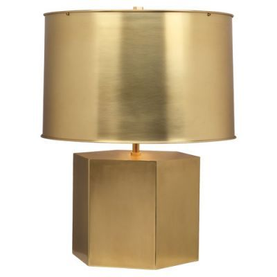 Mary McDonald - Pythagoras Table Lamp- Matte Brass. Would LOOOOVE for sides of couch.