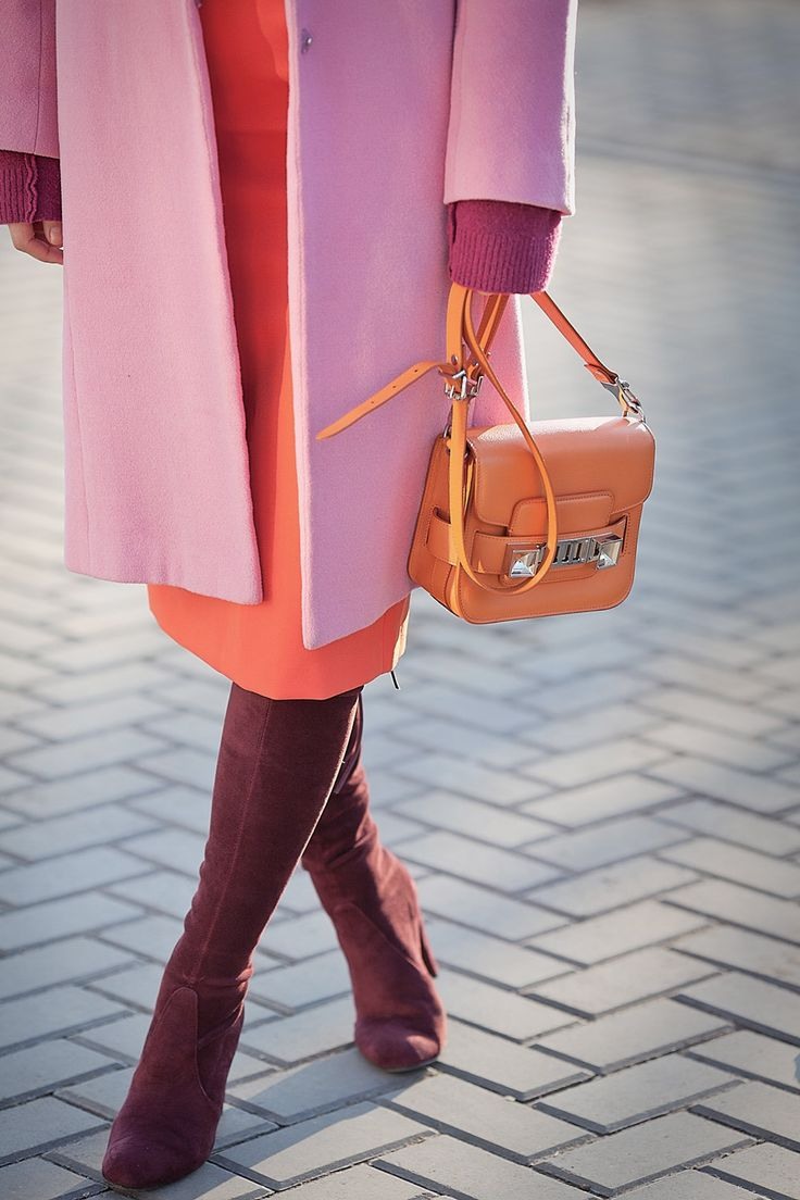 stuart weitzman over the knee boots and proenza schouler ps11   color block   color splash