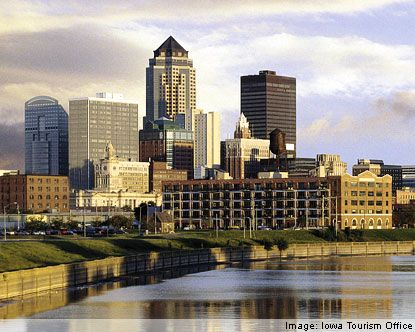 "Des Moines, IA is very business driven, and Forbes named it the eleventh ""Best Place for Business"" in 2006. Kaplan University, Des Moines campus, is located in suburban Des Moines. http://desmoines.kaplanuniversity.edu/Pages/Campus_Location.aspx"