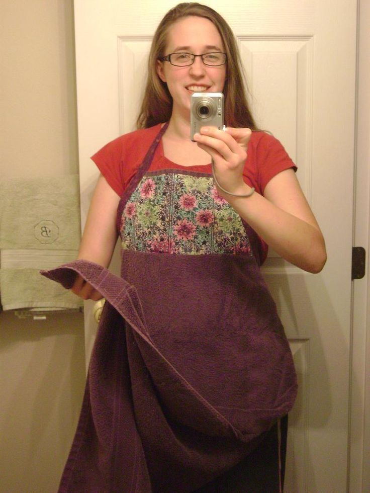 Baby Bath Apron Tutorial - probably just strips of the printed fabric though