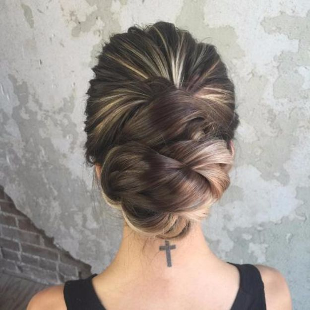 Quick and Easy Updo Hairstyles - Elegant Twist Updo - Hair Hacks And Popular Haircuts For The Lazy Girl. Hairdos and Up Dos Including The Half Up, Chignons, Twists, Beauty Tips, and DIY Tutorial Videos For Bangs, Products, Curls, The Top Knot, Coiffures, and Shoulder Length Hair - https://thegoddess.com/quick-easy-updo-hairstyles